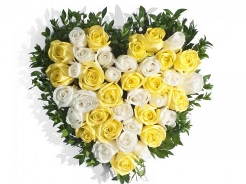 Inimioara din 21 trandafiri